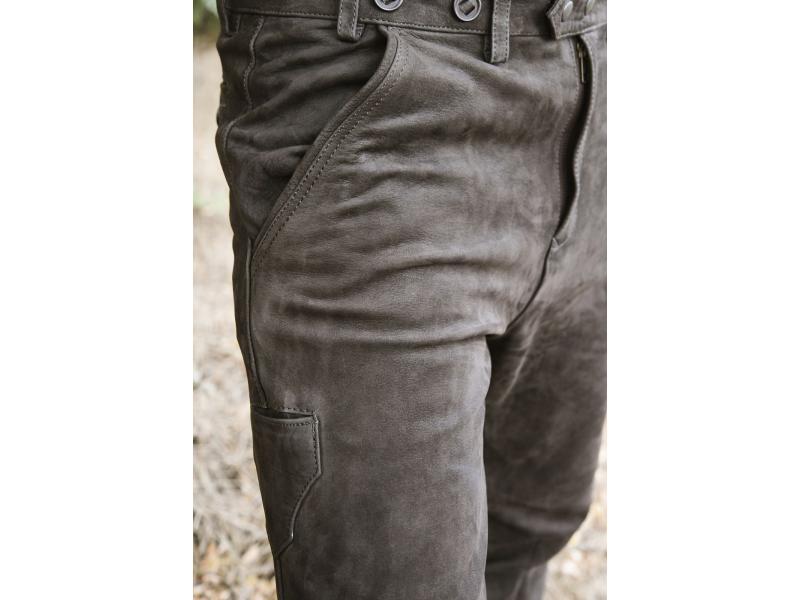 Kalhoty kožené hnědé Carl Mayer Rabenau Braun 96ba0996cb